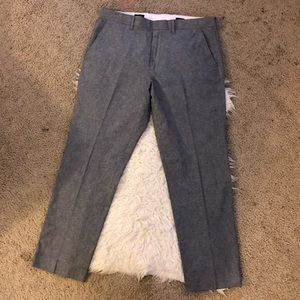 J. Crew Bedford dress pants chambray gray